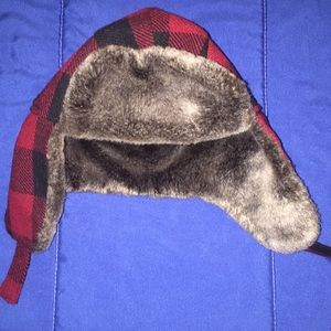Toddler trapper Hat buffalo plaid